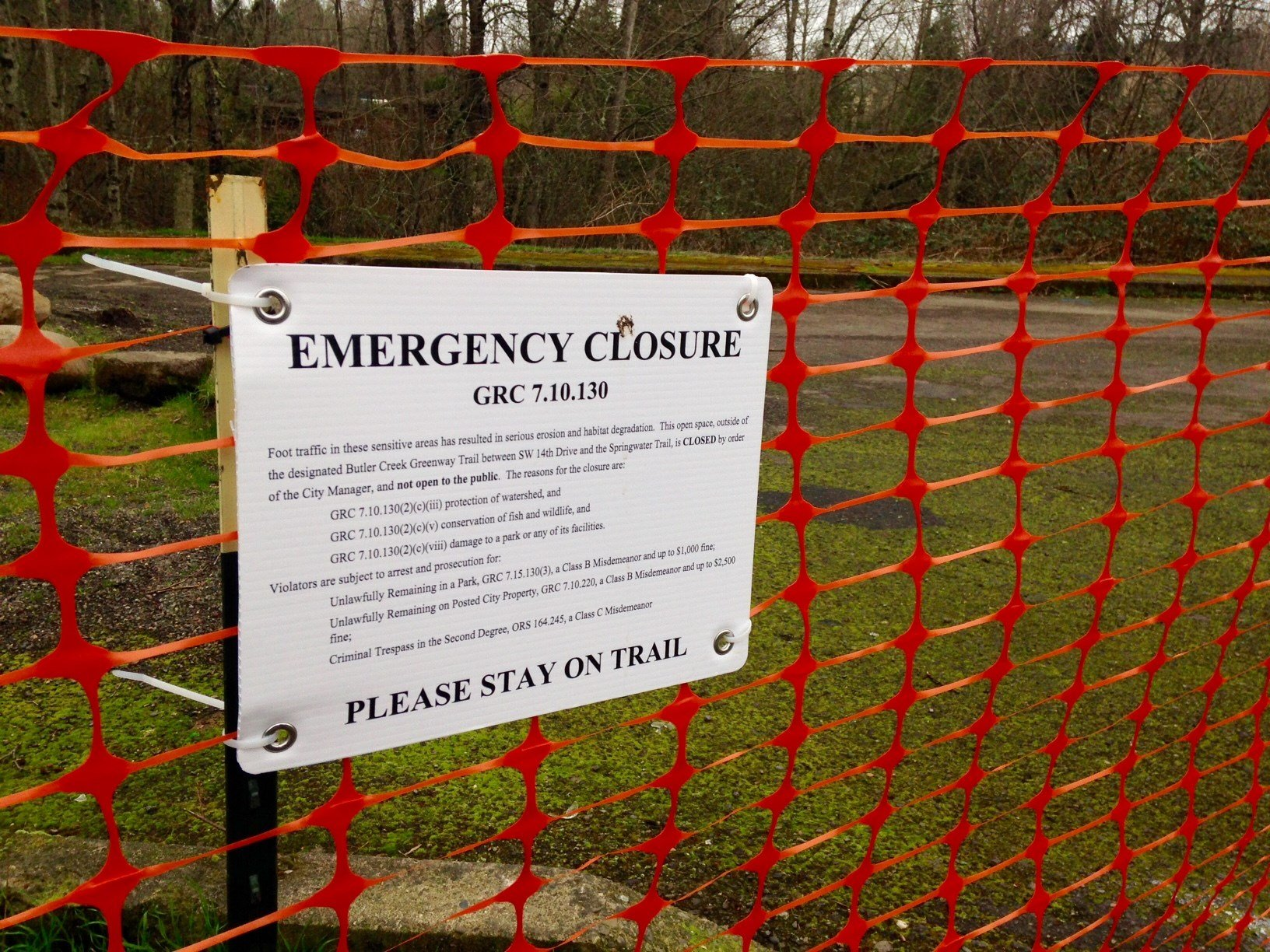 A section of fence bordering the area known as Gresham Woods. (KPTV)