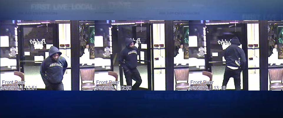 Surveillance images of armed robbery suspect at Paddy's in NE Portland. (Photos: Portland Police Bureau)