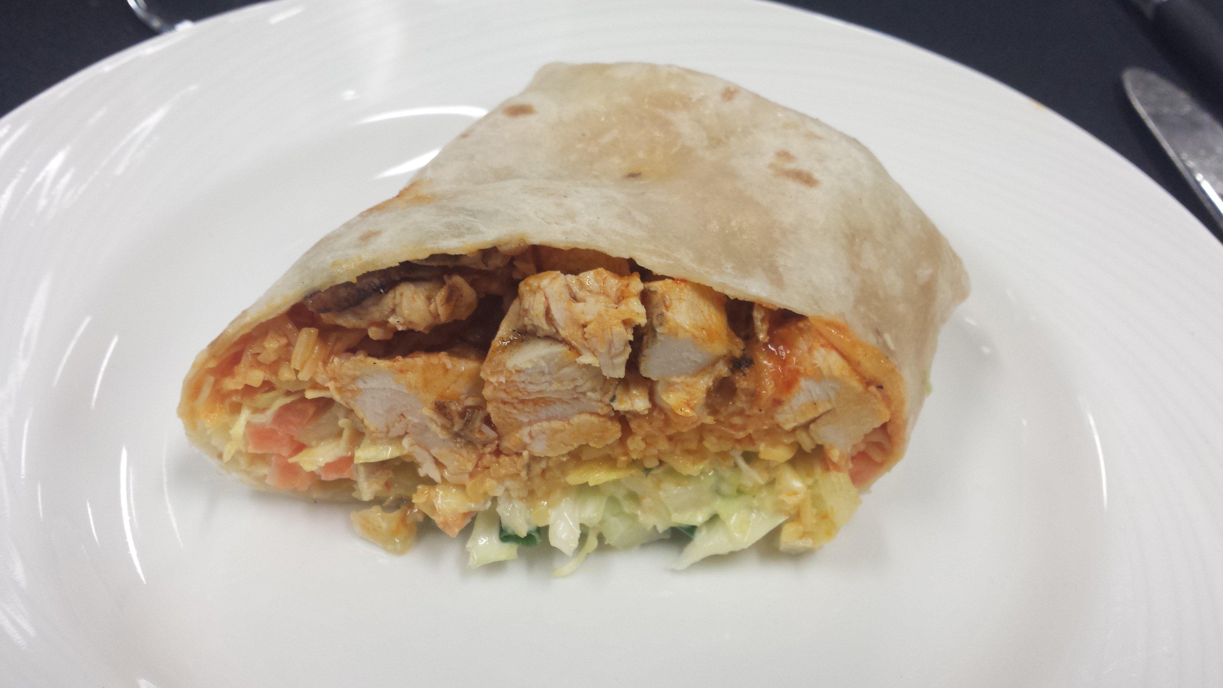 Buffalo Wing Wrap sandwich (Wayne Garcia, KPTV)