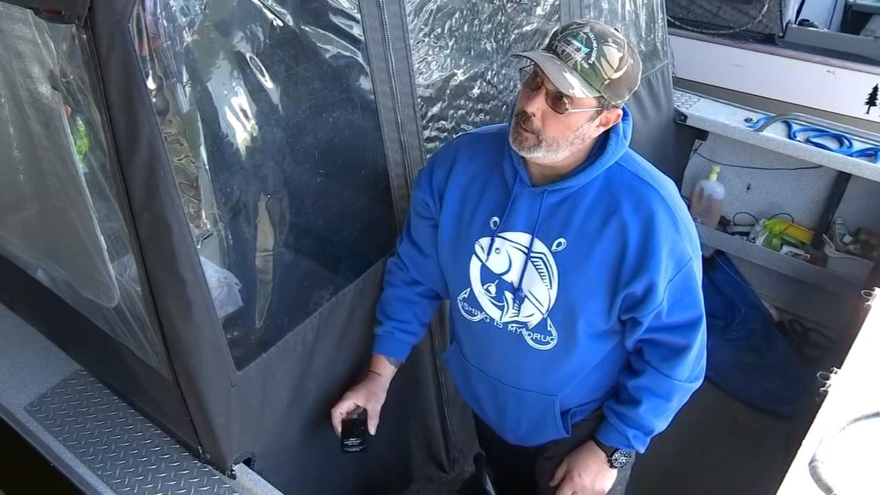 Erine Stille installed an alarm among other security measures after burglars hit his boat kept at the Port of Camas-Washougal marina for the second time in January. (KPTV)