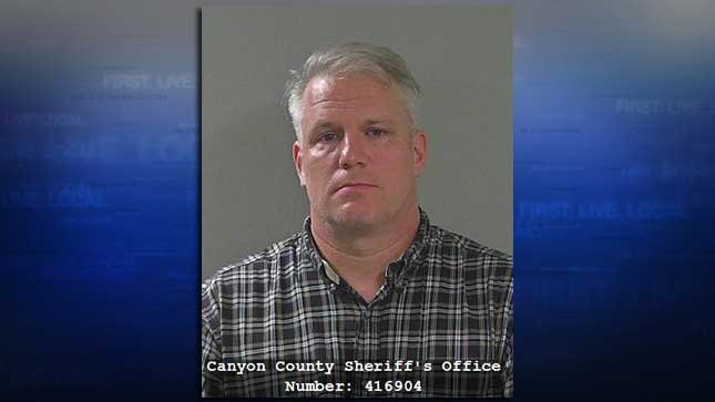Sgt. Michael Alexander, jail booking photo (Source: Canyon County Jail)