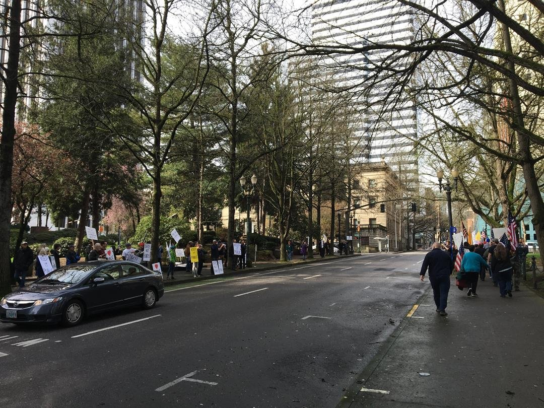 Rally held at the Federal Courthouse in support of Oregon refuge occupiers