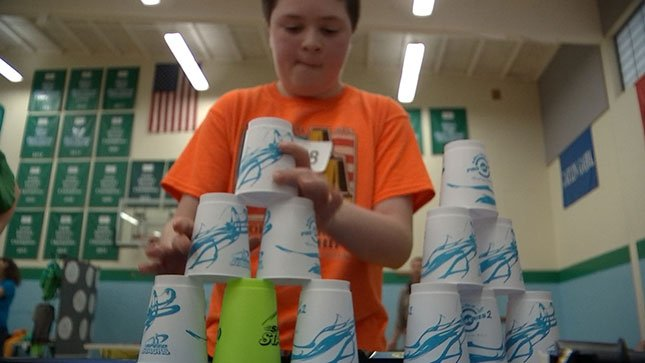 About 60 stackers from Oregon, Washington, California, and Canada competed at the World Sport Stacking Association's Northwest Championship on Saturday.