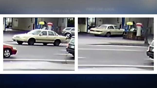 Surveillance images of stabbing suspect's car at NE Portland car wash. (Photos: Portland Police Bureau)