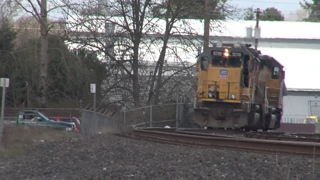 The pedestrian involved in the incident with the train sustained injuries not believed to be life-threatening.