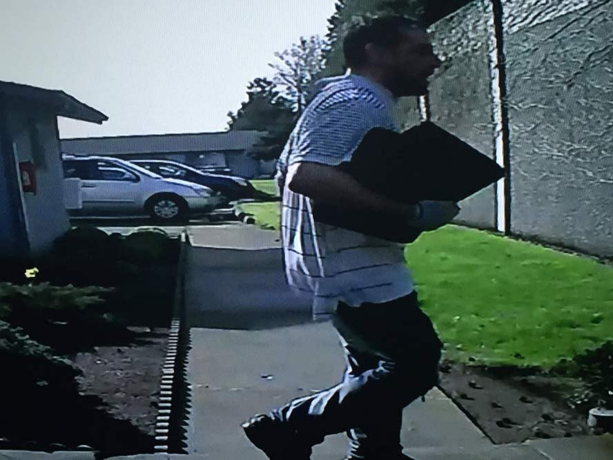 Surveillance image of wanted Salem home invasion suspect. (Image released by Salem PD)