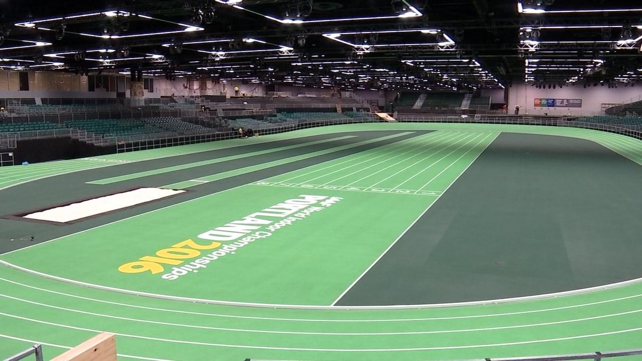 New indoor track. (KPTV)