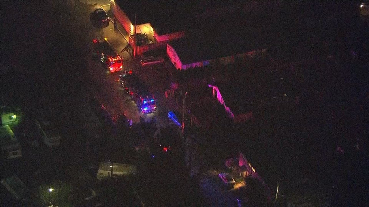 AIR 12 over the scene of the fire (KPTV)