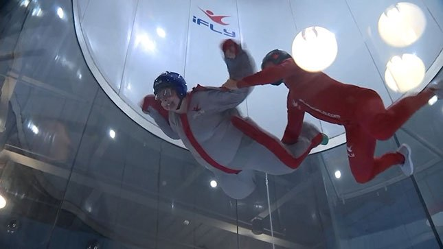 Dianna Trimble, who is fighting stage four colon cancer, crossed skydiving off her bucket list Tuesday.(Photo credit: KPTV)