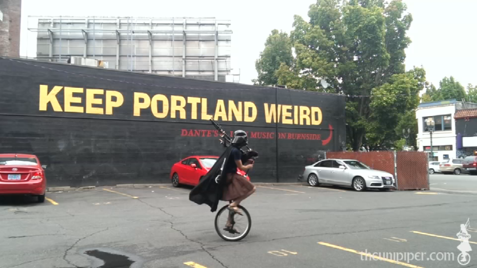 Brain Kidd as the Unipiper (Photo credit: KPTV)