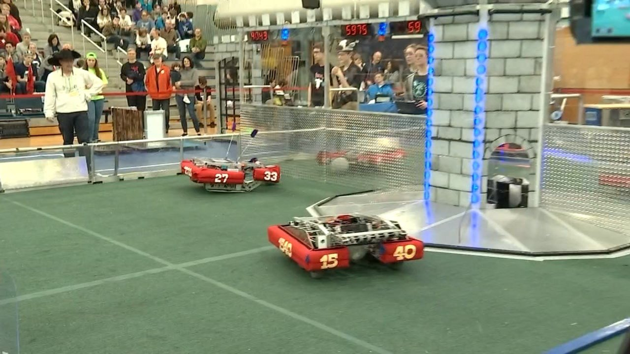 33 teams showed off their work during the Pacific Northwest District 3 robotics competition