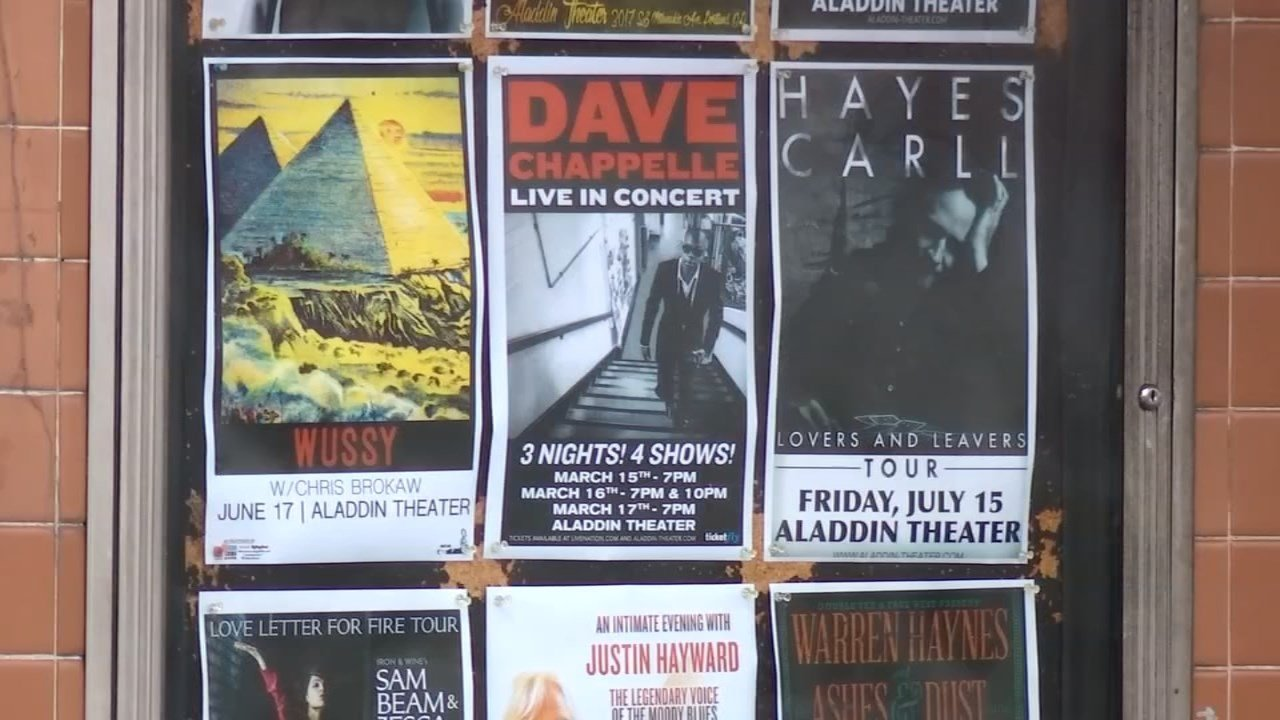"Saying they will ""bust some kneecaps if needed,"" the staff at the Aladdin Theater are cracking down on scalpers after tickets for a performance by Dave Chappelle sold out almost immediately.(KPTV)"