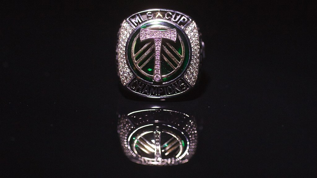 A week after the MLS Cup 2015 Champions was unveiled at the season opener, Portland Timbers released images of the championship rings given to the team last week.(Portland Timbers)