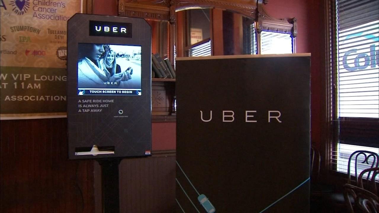 Uber kiosk at Paddy's Bar and Grill (KPTV)