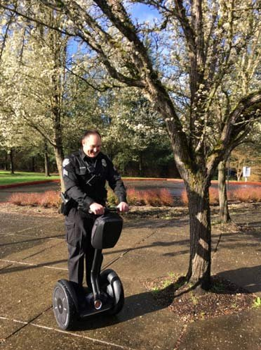 A Segway was donated to the Tualatin Police Department. (Photo: Tualatin PD)