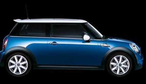 Similar blue Mini Cooper to the one involved in a crash in Vancouver that preceded the driver being shot and killed by deputies. Police are seeking witnesses to the crash. (Photo: Vancouver PD)