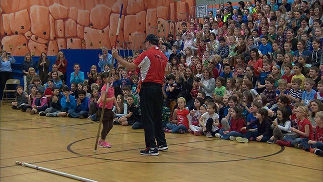 Some world-renowned pole vaulters visited Westridge Elementary on Wednesday.
