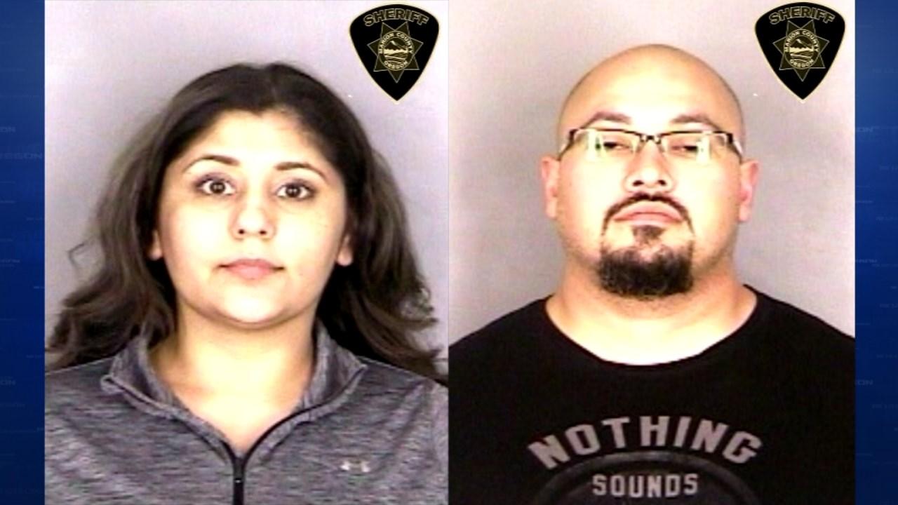 Hilda and Mark Porras booking photos. (Courtesy: Marion County Jail)