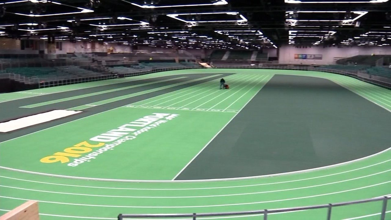 The World Indoor Championships are being held at the Oregon Convention Center in Portland.
