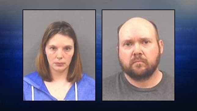 Danielle and John Yates, jail booking photos