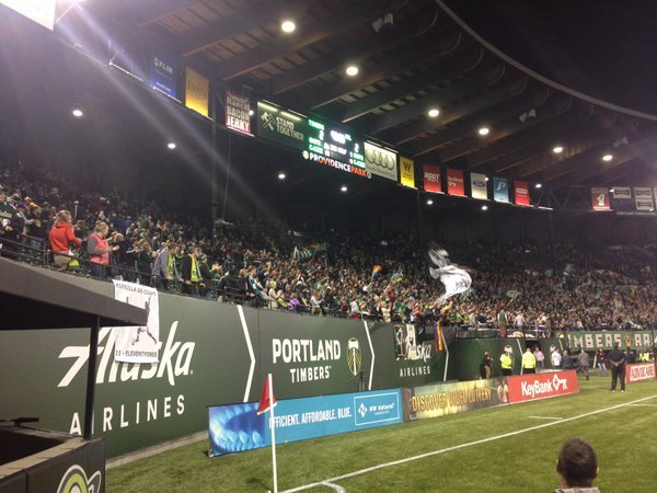 Fans at Providence Park saw the Portland Timbers comeback Saturday to end their match with Real Salt Lake at a 2-2 draw. (Nick Krupke/KPTV)
