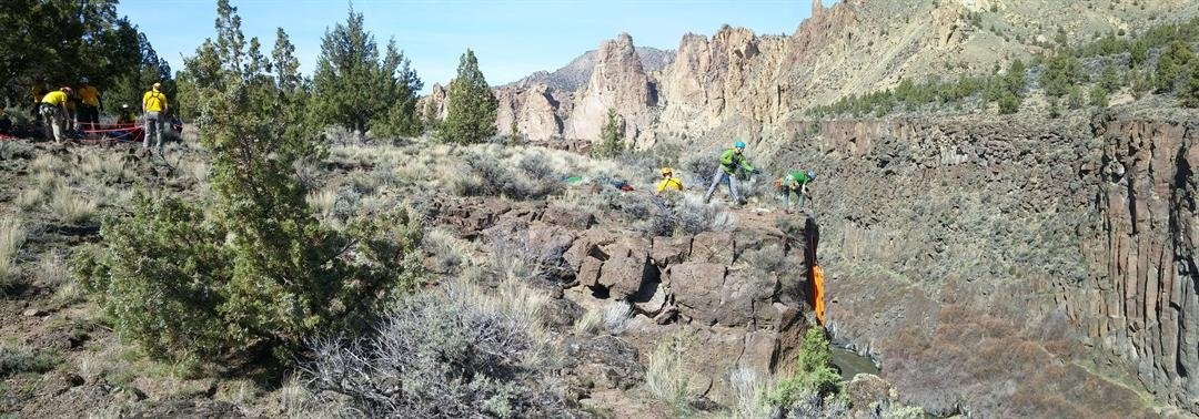 Deschutes County SAR Conducts High Angle Rescue of Fallen Climber at Smith Rock State Park