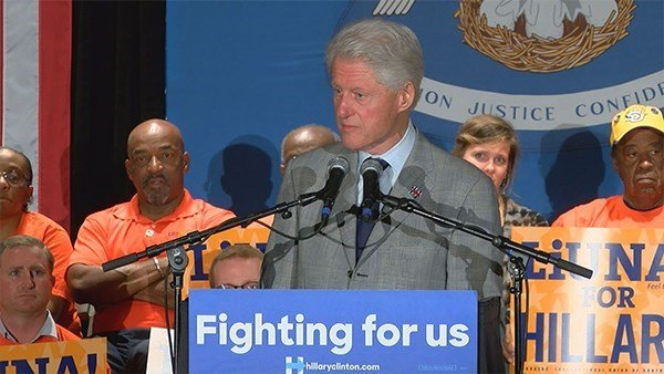 Former President Bill Clinton at an event in New Orleans on March 3. (Source: WAFB)