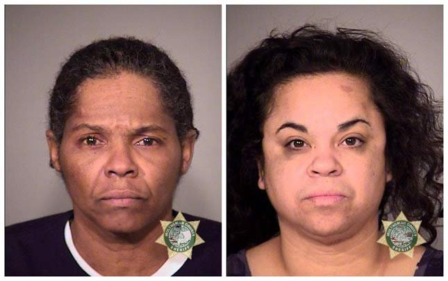 Alicia Renee Hawkins, Angela Megrant, jail booking photos