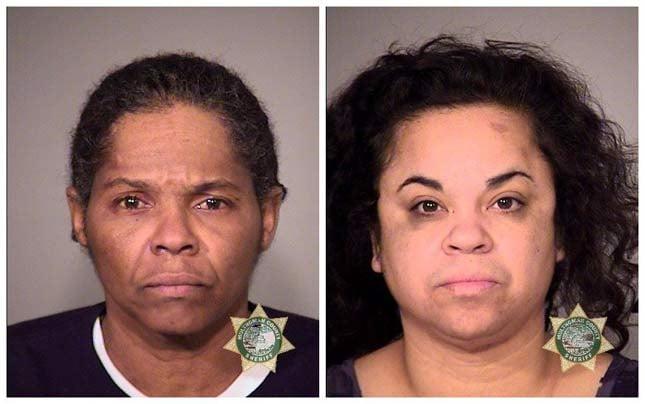 Alicia Renee Hawkins, Angela Megrant, jail booking photos