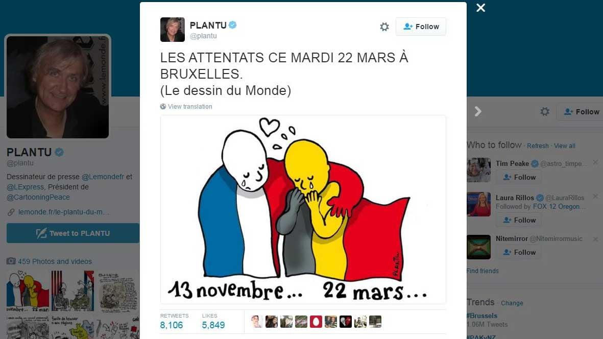 Screenshot of cartoon on Twitter (Photo: Twitter/@plantu)
