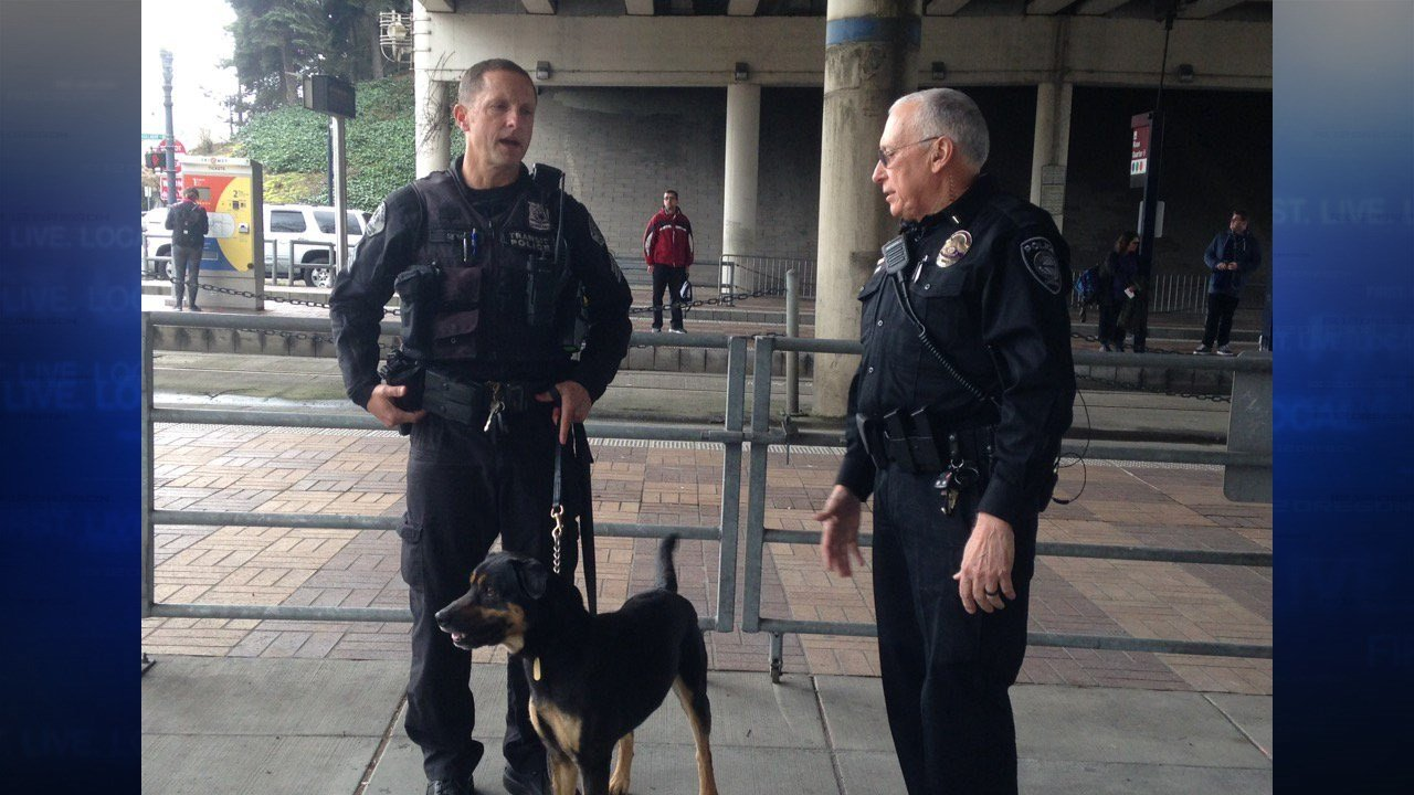 Travelers around Portland saw an increased security presence at PDX and on MAX lines following the attacks in Brussells Tuesday. (Simon Gutierrez/KPTV)