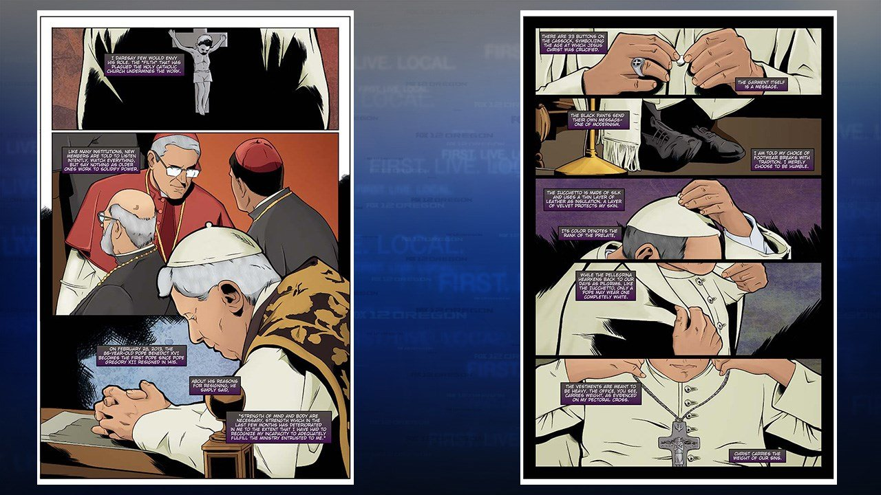 """The Life of Pope Francis"" Preview pages 2 & 3 (Storm Entertainment)"