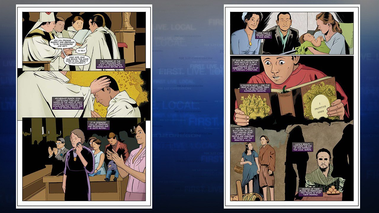 """The Life of Pope Francis"" Preview pages 4 & 5 (Storm Entertainment)"