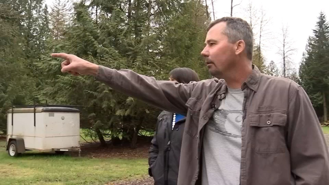 Ted Freeman said he was worried that his neighbor Gerald Miller was already released after the man shot at Freeman's son Monday. (KPTV)