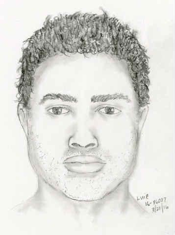 Suspect sketch (Courtesy: Portland Police Bureau)