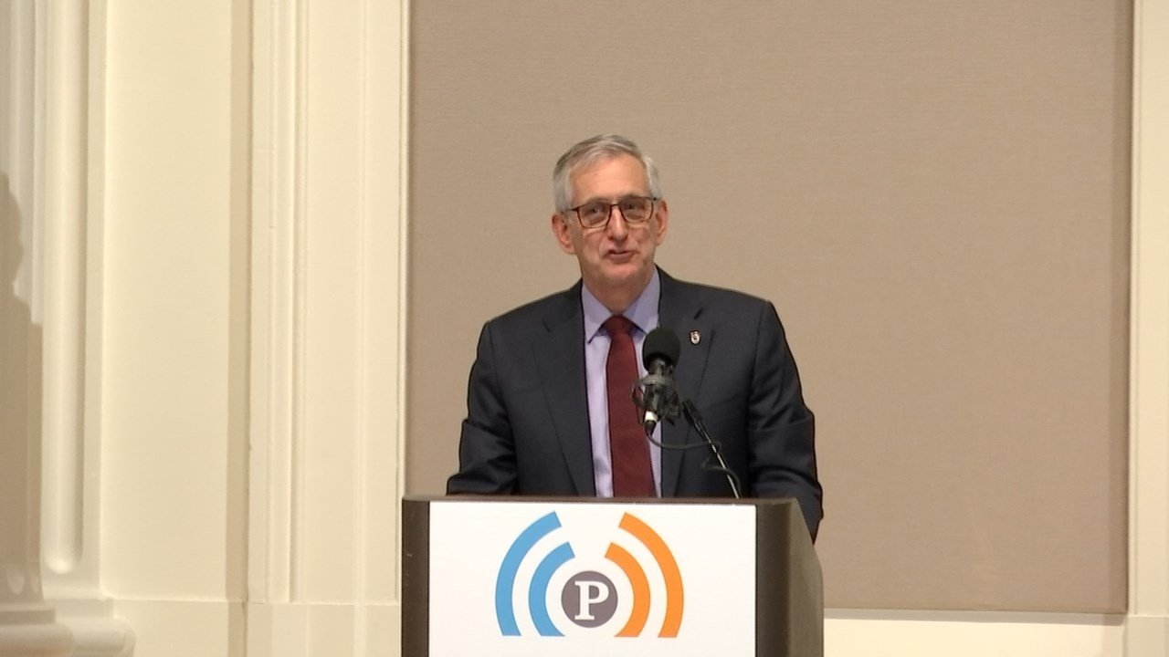 Mayor Charlie Hales gave his last final State of the City address Friday, noting Portland faces many challenges ahead. (KPTV)