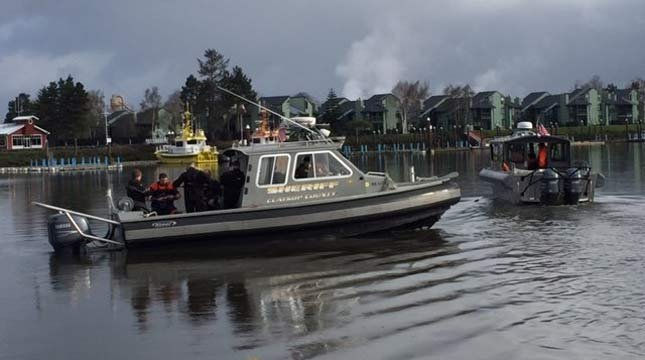 Search crews located the wreckage of a missing plane and the bodies of the two people on board in the Columbia River near Astoria on Friday. (Photo: Clatsop County Sheriff's Office)