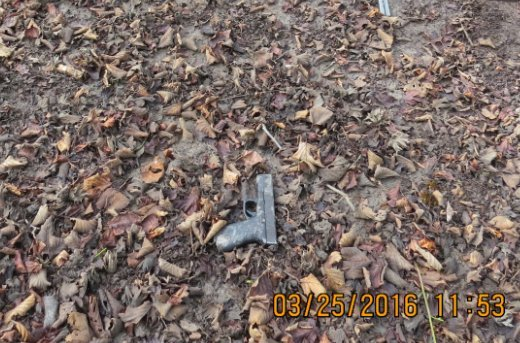 Gun fired by suspect at deputies, according to the Linn County Sheriff's Office. The suspect was critically injured when deputies returned fire. (Photo: Linn Co. Sheriff's Office)