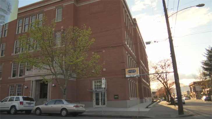 Building that will be used as a homeless shelter. (KPTV)