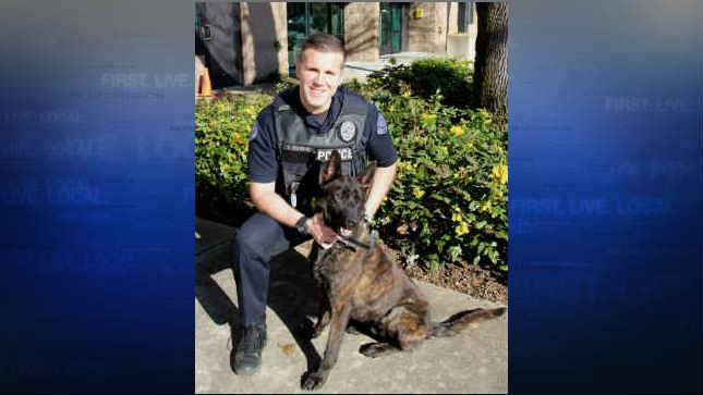 K9 Doc and his handler Officer Douville. (Photo: Vancouver Police Department)