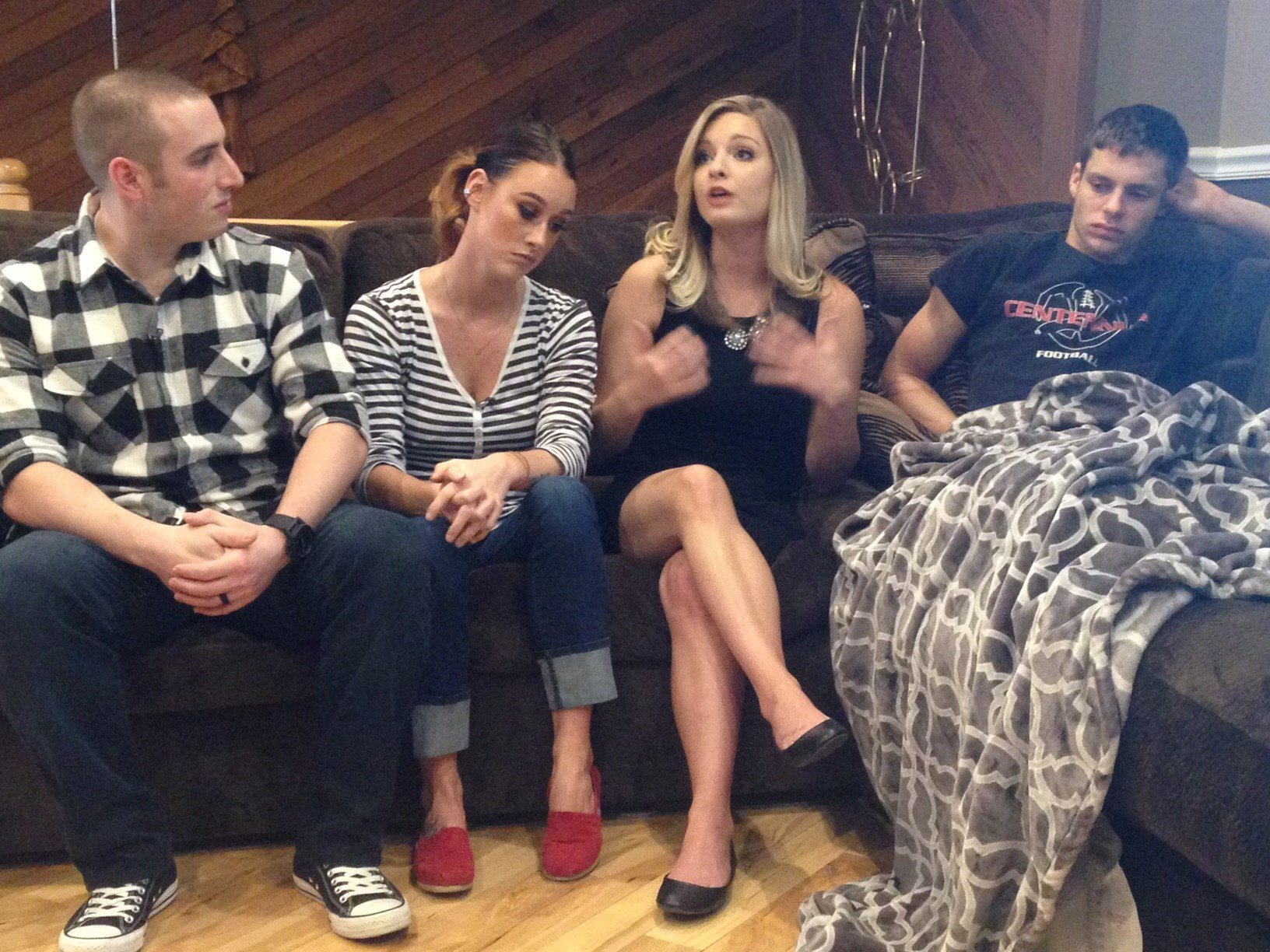 From left to right:  Mychal and Kristy Costanzo, Victoria Brown and Kole Snuggerud. (KPTV)