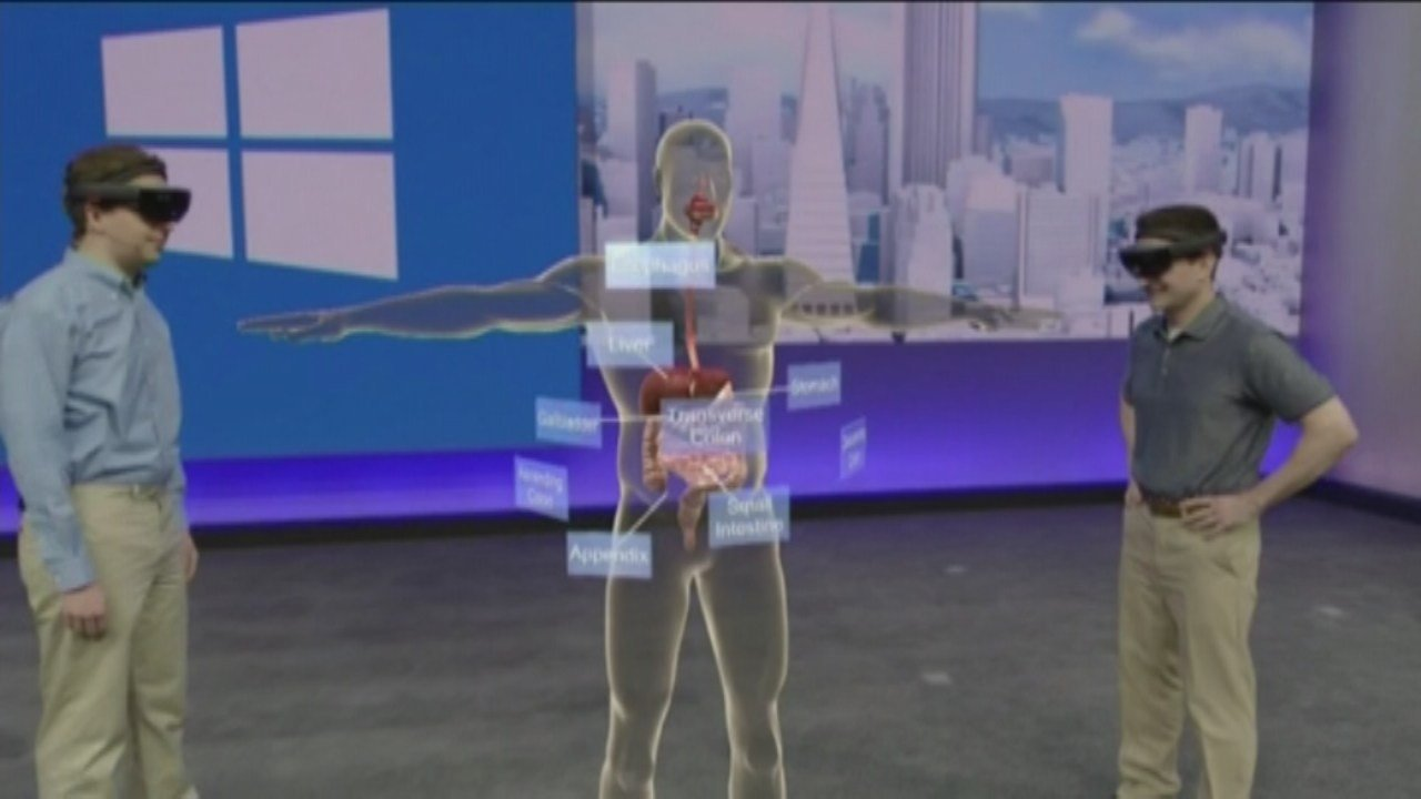 Presentation of HoloLens at Microsofts annual Build Conference. (KPTV)