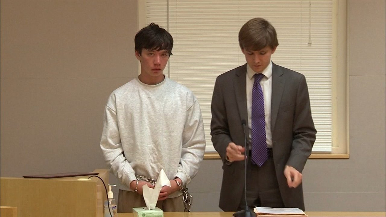 Alan Gibson, 15, was in court Friday, one day after police say the Hillsboro teen stabbed a former friend over a fight the two were having on Facebook. (KPTV)