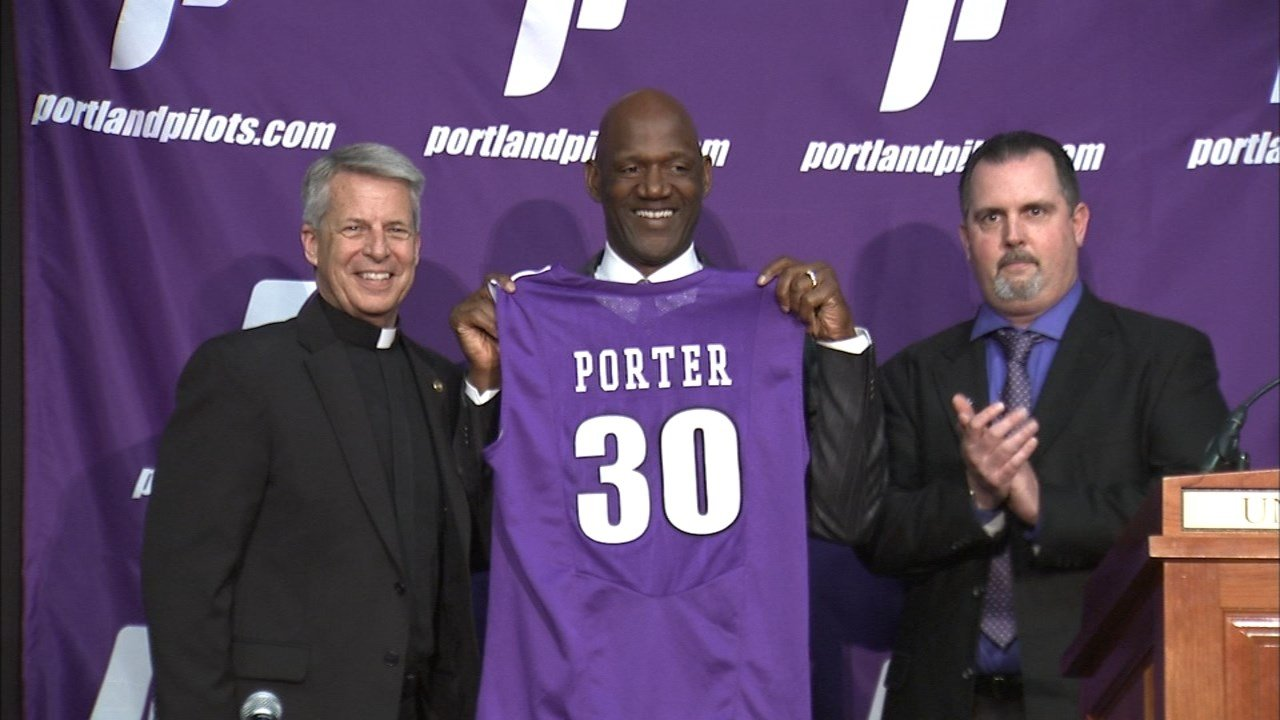 NBA great Terry Porter was introduced as the next head coach at the University of Portland Tuesday at the Chiles Center. (KPTV)