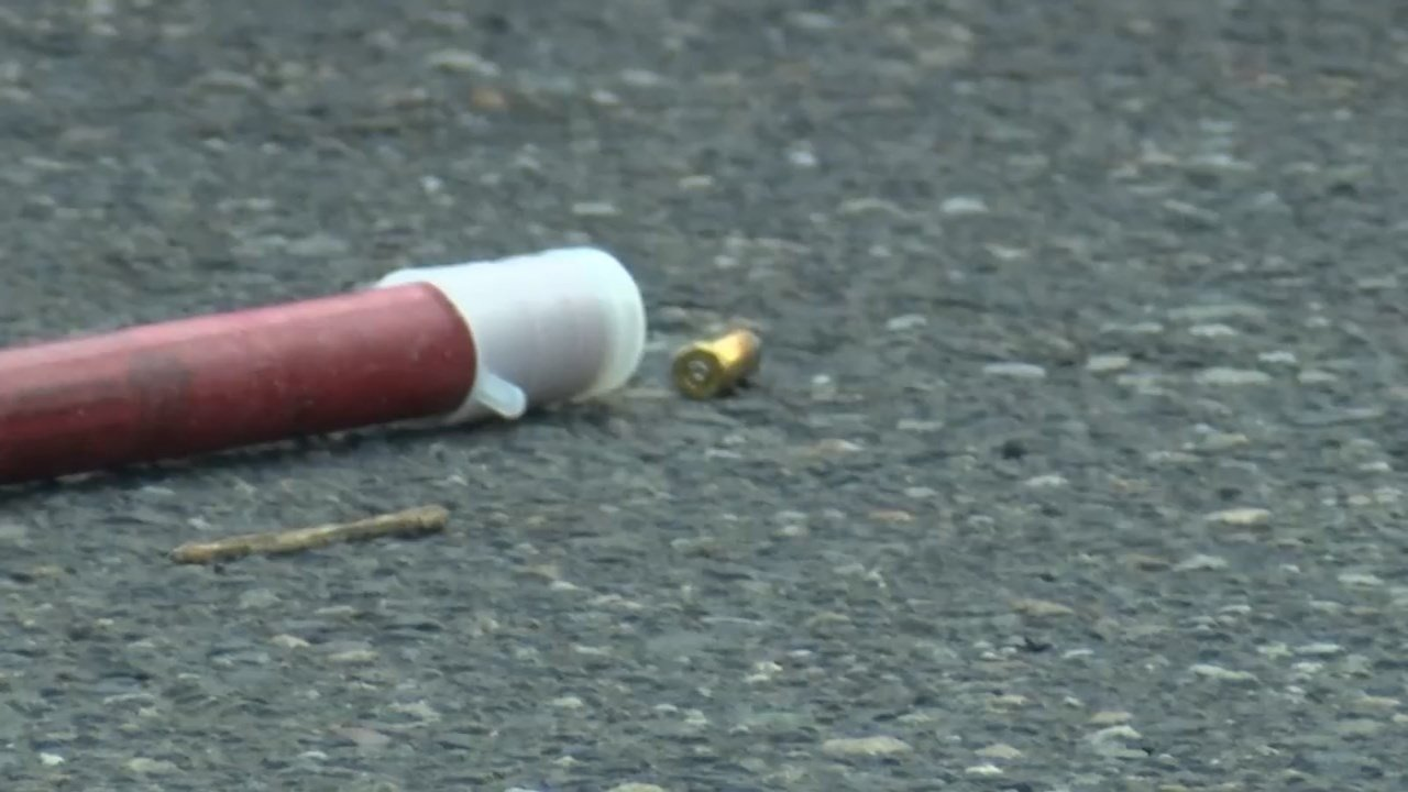 Police collected evidence in connection to a shooting in northeast Portland on Monday.
