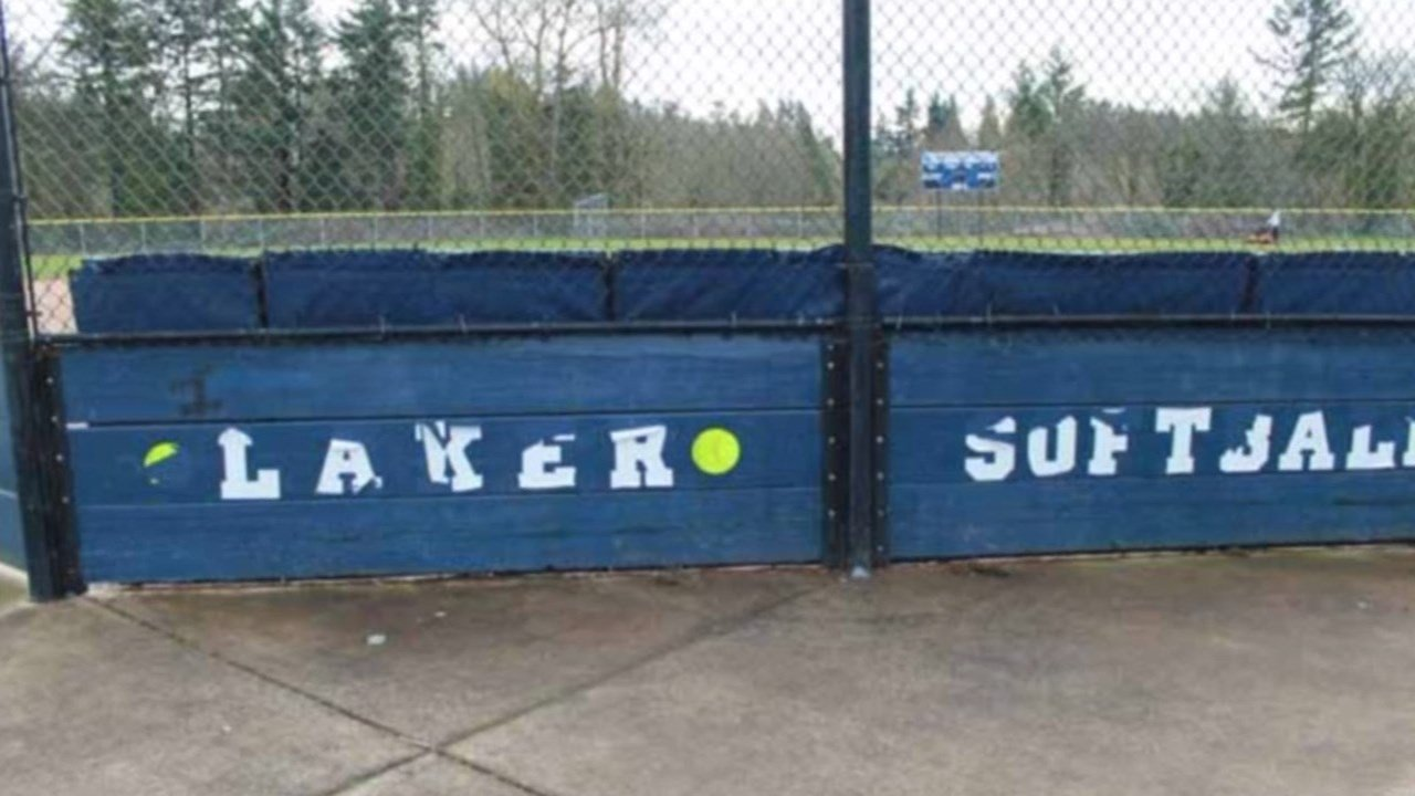 Lake Oswego High School girls softball field. Courtesy: KPTV