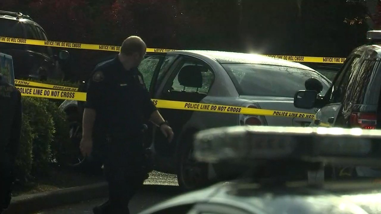 Crime scene at McDonald's restaurant at Northeast 103rd and Halsey Street in Portland. (KPTV)