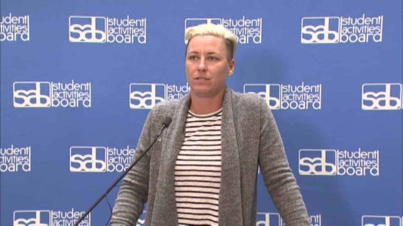 "Addressing the media after speaking to students at the University of Kentucky Tuesday, Abby Wambach said the ""the truth will come out"" in the case of her arrest over weekend on DUII charges. (CNN)"