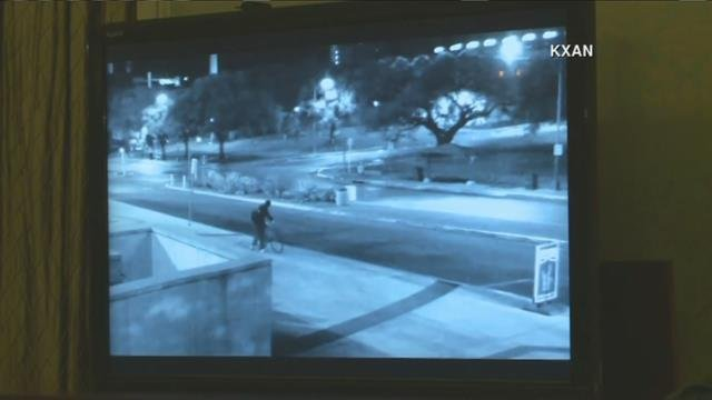 Surveillance image of suspect wanted in connection with the killing of Haruka Weiser at the University of Texas.