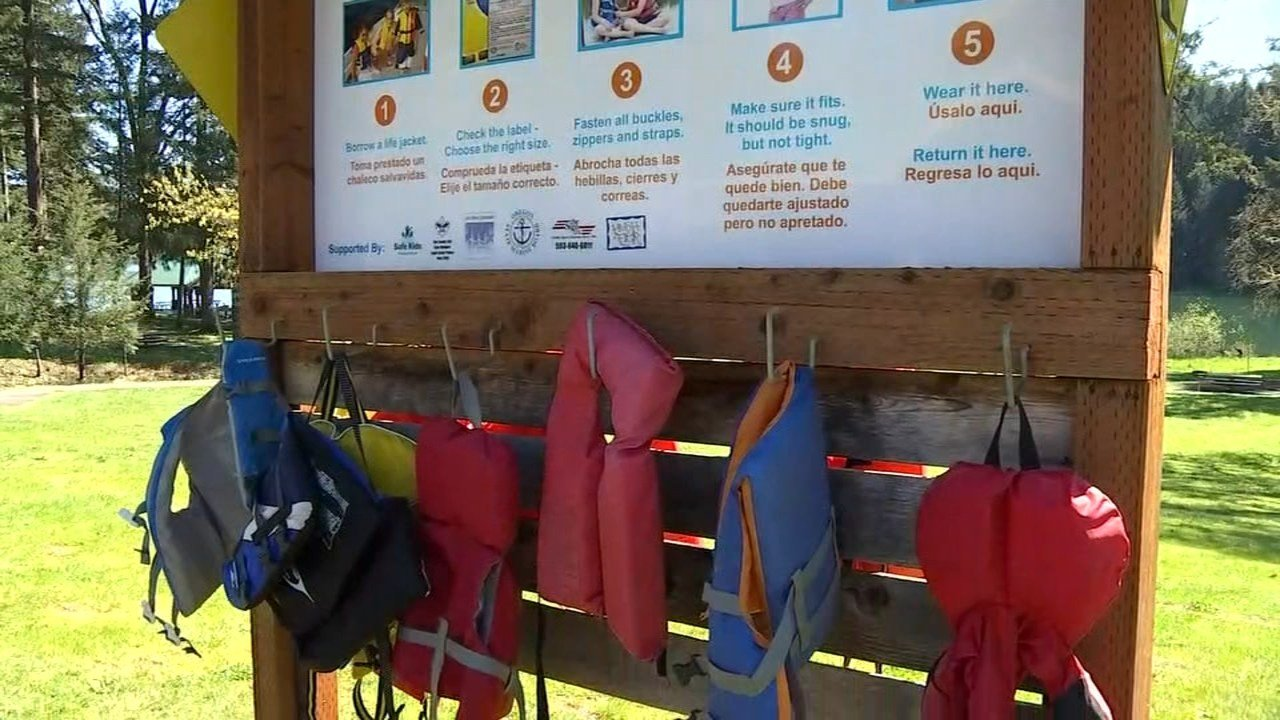 Boaters and swimmers at Hagg Lake in Washington County can now use life jackets kept at the lake by park officials to improve safety in the water. (KPTV)